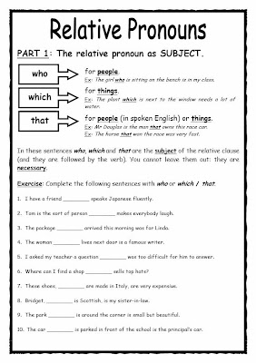defining relative clauses exercises pdf with answers