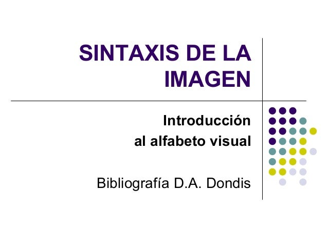 d dondis sintaxis imagen pdf