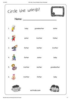 activity of family for kindergarten pdf